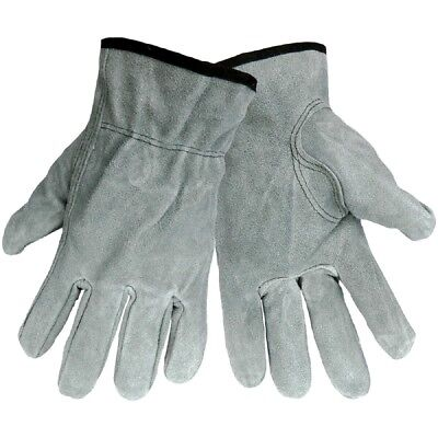 Global Glove Cow Split Leather Drivers Style Work Gloves, 12 Pair