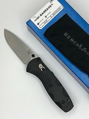 * New Benchmade 585 Osborne Mini Barrage Axis-Assist Plain Edge Folding Knife