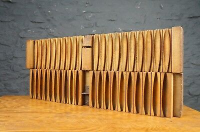 Decorative Large Wooden Cigar Mould - Antique Wall Art / Display Piece