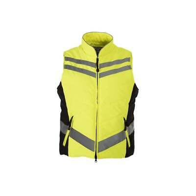 Equisafety Quilted Hi-Vis Flourescent Fitted Gilet Yellow or Pink S-XXL