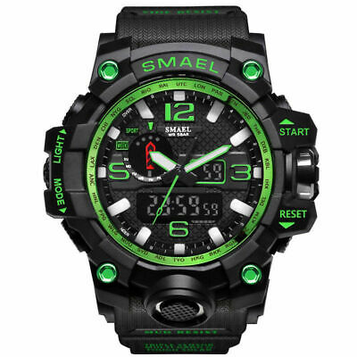 SMAEL Mens Sport Military Watch LED Dual Display Digital Electronic Wristwatch