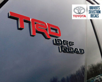 Decal Inlays For 2017-2018 Toyota 4Runner TRD OFF ROAD Emblems