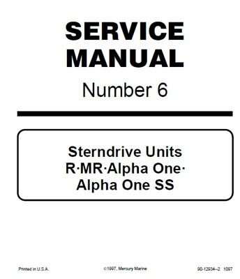 Mercury Mercruiser Sterndrive Service Manual Today Manual Guide