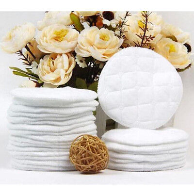 UK 10Pcs Reusable Nursing Breast Pads Washable Soft Absorbent Breastfeed Cotton