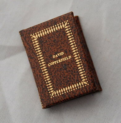 Vtg Dollhouse Miniature Book Barbara J Raheb David Copperfield Charles Dickens