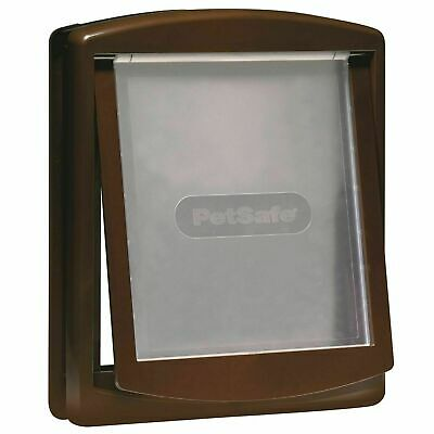 PetSafe Staywell Original 755 Medium Dog Flap Pet Door 2-Way Locking Easy, Brown
