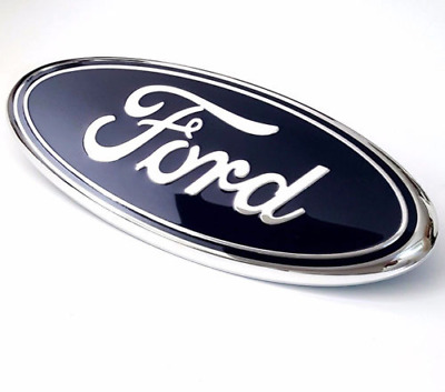 FORD 9 INCH BLUE OVAL FRONT GRILLE OR REAR TAILGATE EMBLEM fits  F-150 F-250