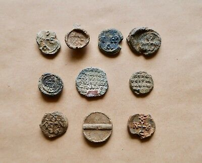 Lot Of 10 Byzantine Lead Seals. Very Nice Items!