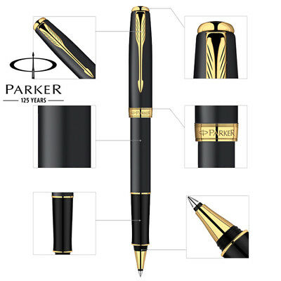 Luxurious metal Parker Sonnet rollerball Pen 0.5mm Nib golden clip office school