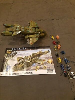 Retired Mega Bloks Halo Pelican 96824 With Extra Spartans 99 Complete
