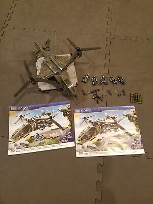 Halo Mega Bloks Falcon Set 96940 Used 99 Complete With Extra Spartans