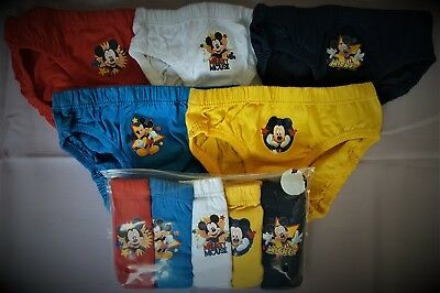 Mickey Mouse Briefs Boys Pants Underwear 5 Pack T2TC417