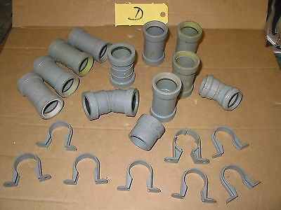 """32Mm Waste Pipe Fittings Mainly Bartol Push Fit Waste Pipe 1 1/4"""" Fittings  (D)"""