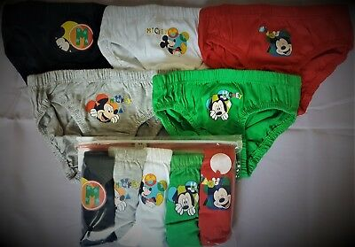 Mickey Mouse Briefs Boys Disney Pants Underwear 5 Pack T2TC421