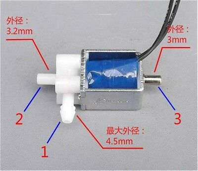 Mini 2-Position 3-Way Electric Control Solenoid Valve For Gas Air Pump DC 5V 6V