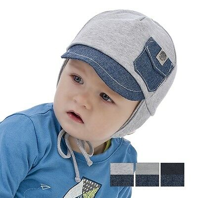 Brand New Cotton Autumn/spring Tied Hat With Pocket For Boy/baby/toddler 12M-4Y
