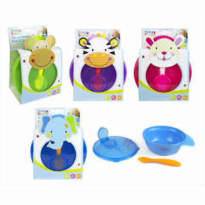 First Steps Travel Baby Feeding Bowl With Spoon and Lid with Spoon