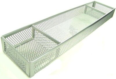 Groovy Desk Organizer Silver Wire Mesh 3 Compartments Office Home Accessory Tray New I Download Free Architecture Designs Scobabritishbridgeorg