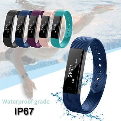 Latest Children Sleep Activity Tracker SmartWatch Pedometer For FitBit Style UK