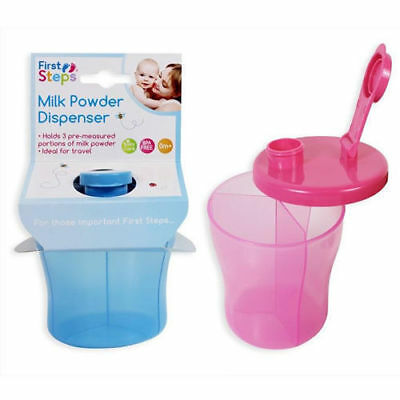First Steps Milk Baby Powder Dispenser with 3 Compartments, BPA Free, 0 Mnths +
