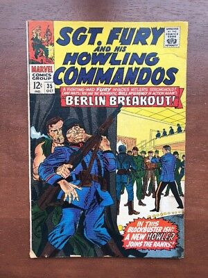 Sgt. Fury #35 (Oct 1966, Marvel) 4.0 VG Marvel Key Issue Comic Silver Age
