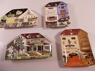LOT SET 4 EUC Charles Wysocki's Country Heartland Collector Plates BRADFORD 1-4