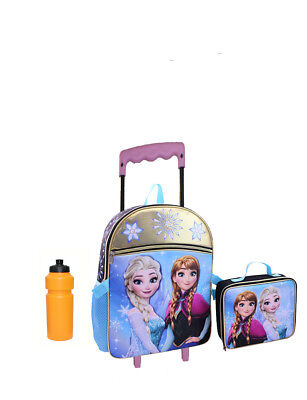 Disney Girls' Frozen Anna and Elsa Rolling Backpack w Lunch Box