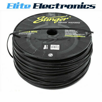 Stinger SPW518C Pro Audio Speaker Wire 18 Gauge Cable 1000 ft Spool Roll Clear