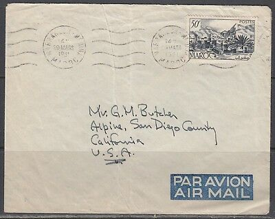 Morocco - Mar 1951 Cover to United States