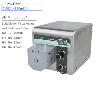 New Compact Peristaltic Pump SP-MiniPump 01 0.0024-190 Ml/Min
