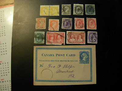 CANADA USED OLD QV/POST CARD ISSUES, NO THINS no TEARS, NICE, $$$ #SF411