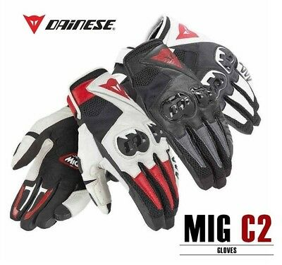 Dainese MIG C2 Genuine Leather Motorcycle Gloves All Colours Size Free shipping