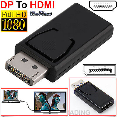 Display Port DP Male to HDMI Female HDTV Converter Adaptor For PC Laptop 4K