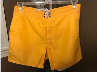 ca3d8d071faac Vintage Birdwell Beach Britches Yellow Swim Surf Board Shorts Size 30-32