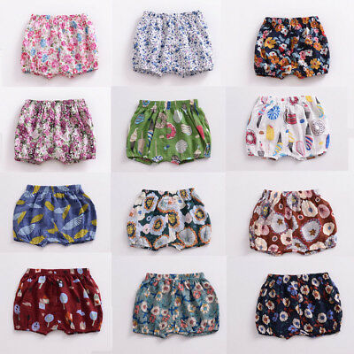 0-18 M Infant Baby Boy Girl Kids Cotton Pants Shorts Bottoms PP Bloomers Panties