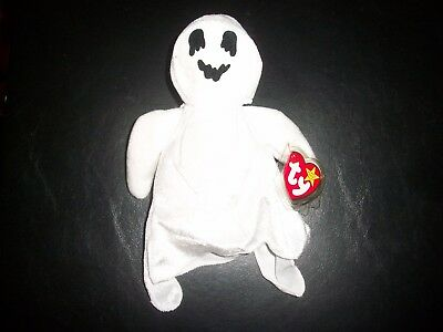 Ty Beanie Babies Baby Halloween Sheets White Ghost In Sheet  W Tags