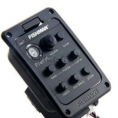 Fishman Presys Blend Onboard Preamp Guitar Piezo Pickup EQ 4 Band with Mic
