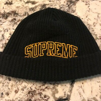 2cae53df ... era brand new bc341 48b23 coupon supreme loose gauge arc logo beanie  black made in canada ab6a0 84675 ...