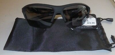 92193dc37b76 Foster Grant Interference IronMan Polarized Sunglasses Black 1/2 Rim Black  Pouch