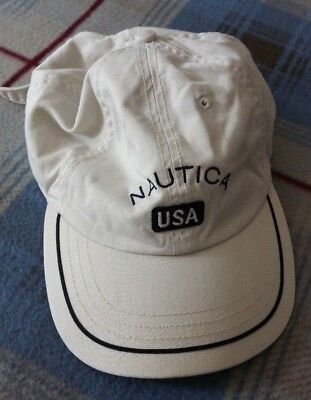 Nautica USA Unisex Beige Spell-out Adult Adjustable One Size Baseball Cap  Hat 7f84f1cc6fea