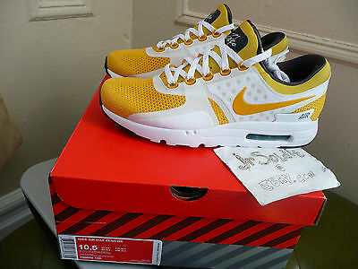 low priced 7fcb6 64918 Tinker Hatfield Nike Air Max Zero QS Yellow Vivid Sulfur SIZE 10.5  789695-100