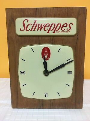 Vintage Schweppes Electric Wall Clock Vintage RARE