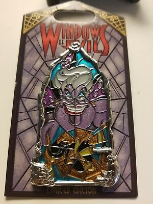 Disney Windows Of Evil The Little Mermaid URSULA Stained Glass LE 2000 Pin