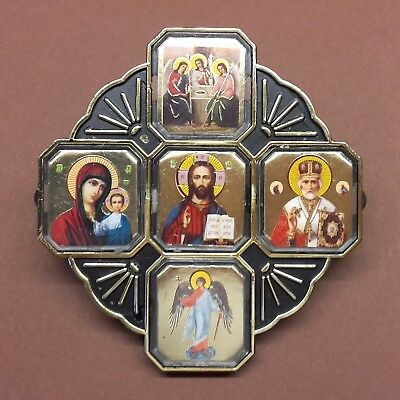 Icon For Car Cross 5 Images Orthodox Russia Excellent Condition C553