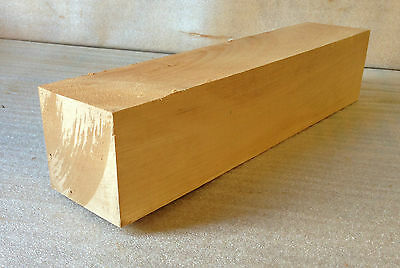 European Lime 50mm Square Wood Turning / Carving Spindle Blank - Woodturning