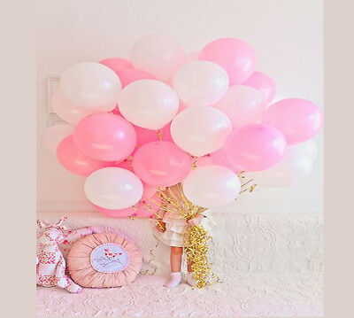 30 PK Gold Silver Pink Baby Blue 10'' inch COLOR Latex balloons Party Birthday