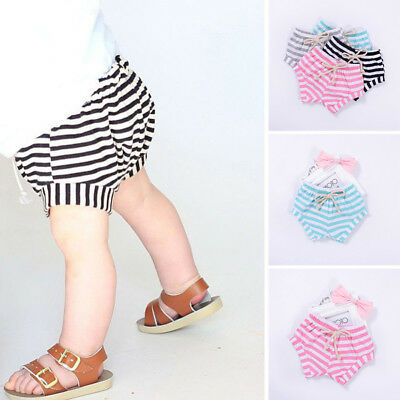 Cute Toddler Infant Kids Baby Girls Boys Striped Shorts Summer Bloomers Clothes