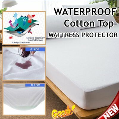 Ful-Fitted Waterproof Dust-Proof Cotton Mattress Protector Cotton Matress Cover@