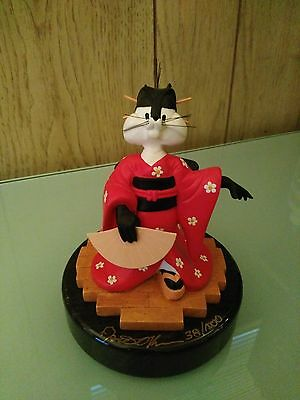 Penelope Cat (Pepe Le Pew) Statue/Figure on Marble Base SIGNED & NUMBERED RARE!
