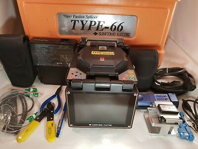 Sumitomo Type-66M12 Single / Ribbon Fiber Fusion Splicer Splice Count low